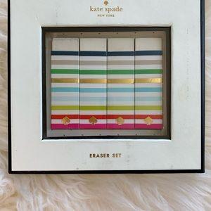 2for23$• Kate Spade Eraser Set